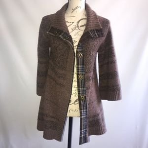 Free People Wool Jacket Coat with Snaps